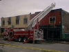 Fire in Magog - corner of main street and Sherbrooke (around 1990)