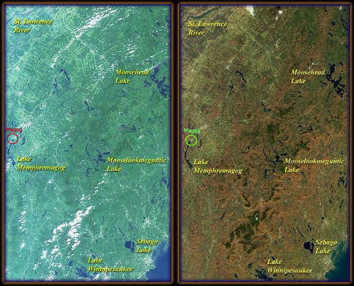 Magog in summer and autumn