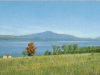 View of Mount Orford and Lake Memphremagog