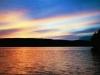 2000 (around) - Sunset on lake Memphremagog