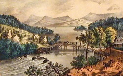 The Outlet of Lake Memphremagog (1838)