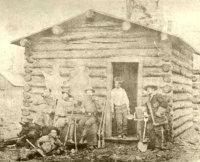 Buckskin Joe and miners