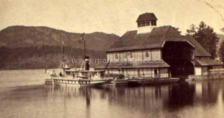 Sir Hugh Allan's yacht boat house