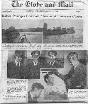 HMCS Magog - Newspaper